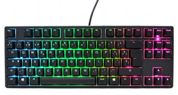 Ducky One2 TKL RGB Backlit Brown Cherry MX Switch